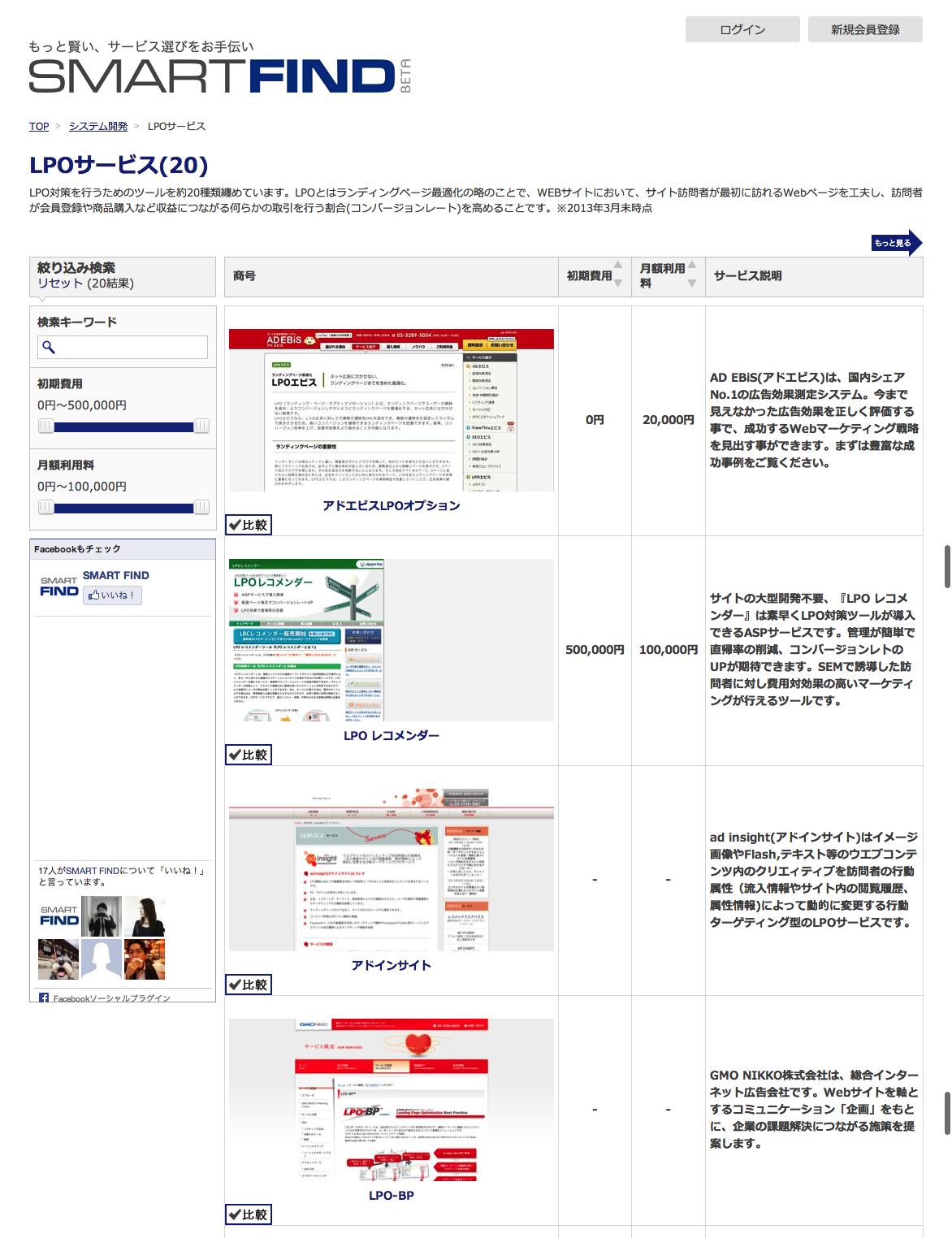 LPOサービスを徹底比較・まとめ|コンペもできるSMART FIND
